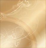 Goud Gevormde Achtergrond Royalty-vrije Stock Foto