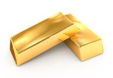 Goud ignot Stock Afbeelding