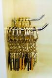 Goud keychains Stock Foto's