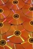 Goud met een laag bedekte schijven DVD Royalty-vrije Stock Afbeeldingen