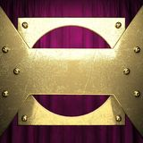Goud op de rode achtergrond van het fluweelgordijn Royalty-vrije Stock Afbeelding