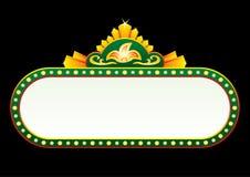 Goud op groen neon Royalty-vrije Stock Afbeeldingen