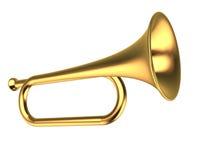 Goud trompet vector illustratie