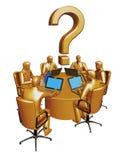 Goud zes businessmans werkt een lijst vector illustratie