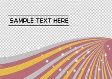 Goud, Zilver, Rose Gold Swirl Abstract-lijnvector op transparantieachtergrond stock illustratie