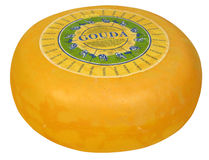 gouda сыра весь Стоковые Фотографии RF