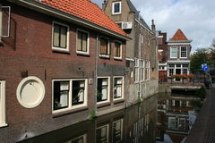 Gouda. A building along a canal in Gouda, The Netherlands royalty free stock photos