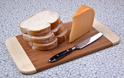 Gouda and Bread Royalty Free Stock Photography