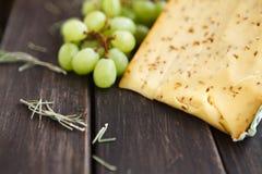 Gouda cheese with herbs closeup Stock Photography
