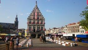 Gouda cheese market Royalty Free Stock Photo