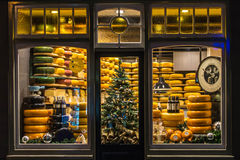 Gouda Cheese Shop Royalty Free Stock Photography