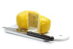 Gouda cheese wheel Royalty Free Stock Image