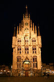Gouda City Hall at Night Stock Photography