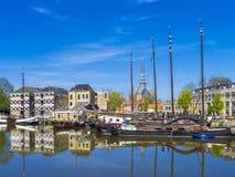 Gouda Holanda del molino de viento fotos de archivo libres de regalías