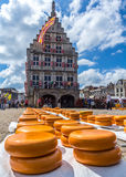 Gouda-Käse-Markt, die Niederlande lizenzfreie stockfotografie