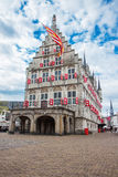 GOUDA, NETHERLANDS - May 18, 2012: Gothic building of the old To Royalty Free Stock Photos