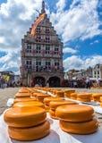 Gouda sera rynek holandie Fotografia Royalty Free