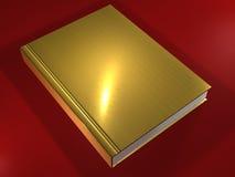 Gouden 3D boek - Stock Afbeeldingen