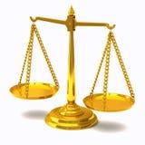 Gouden 3d schalen royalty-vrije illustratie