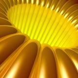 Gouden 3d Tunnel Stock Foto's