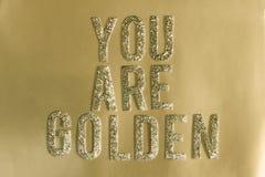 gouden Stock Fotografie