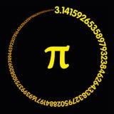 Gouden aantal Pi die een cirkel vormen Royalty-vrije Stock Afbeelding