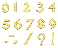 Gouden aantallen Stock Foto's