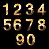 Gouden aantallen stock illustratie