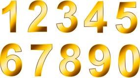 Gouden aantallen Stock Afbeelding