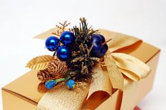 Gouden aanwezige gift stock foto's