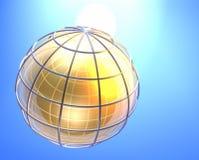 Gouden aarde royalty-vrije illustratie