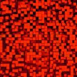 Gouden abstract beeld van kubussenachtergrond Royalty-vrije Stock Foto's