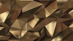 Gouden abstract laag polydriehoeksgebied Stock Afbeelding
