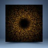 Gouden abstract malplaatje Stock Afbeelding