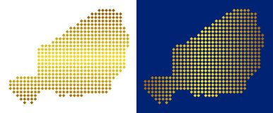 Gouden Abstract Niger Map vector illustratie