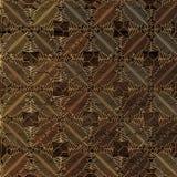 Gouden abstract patroon op houten achtergrond het 3d teruggeven Stock Foto