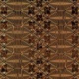 Gouden abstract patroon op houten achtergrond het 3d teruggeven Stock Afbeelding