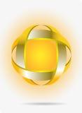 Gouden abstract symbool stock illustratie