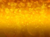 Gouden abstracte achtergrond voor Kerstmis, bokeh achtergrond Stock Foto