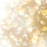 Gouden Abstracte Bokeh-Achtergrond. Royalty-vrije Stock Afbeeldingen