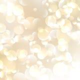 Gouden Abstracte Bokeh-Achtergrond. Stock Foto's