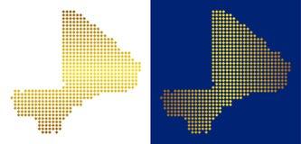 Gouden Abstracte Mali Map vector illustratie