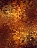 Gouden abstracte mozaïekachtergrond Stock Afbeeldingen
