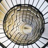 Gouden abstracte vormen futuristische tunnel royalty-vrije stock afbeeldingen