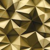 Gouden achtergrond Abstracte driehoeks gouden textuur royalty-vrije stock afbeelding