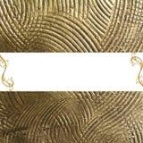Gouden achtergrond met copyspace Stock Afbeelding