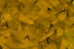 Gouden achtergrond met hoeken en schaduwen Stock Afbeelding