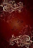 Gouden achtergrond met krullen Stock Fotografie