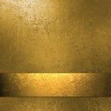 Gouden achtergrond met lint Royalty-vrije Stock Fotografie