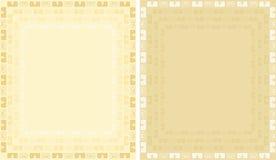 Gouden achtergrond met ornament Stock Afbeeldingen
